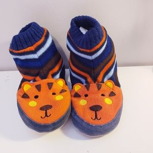 Hanna Andersson slippers tiger size 11/12 toddler
